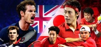 「デビスカップ(国別対抗戦)」日本 対 イギリス イメージ